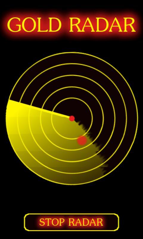 Gold Radar Scanner Prank - screenshot