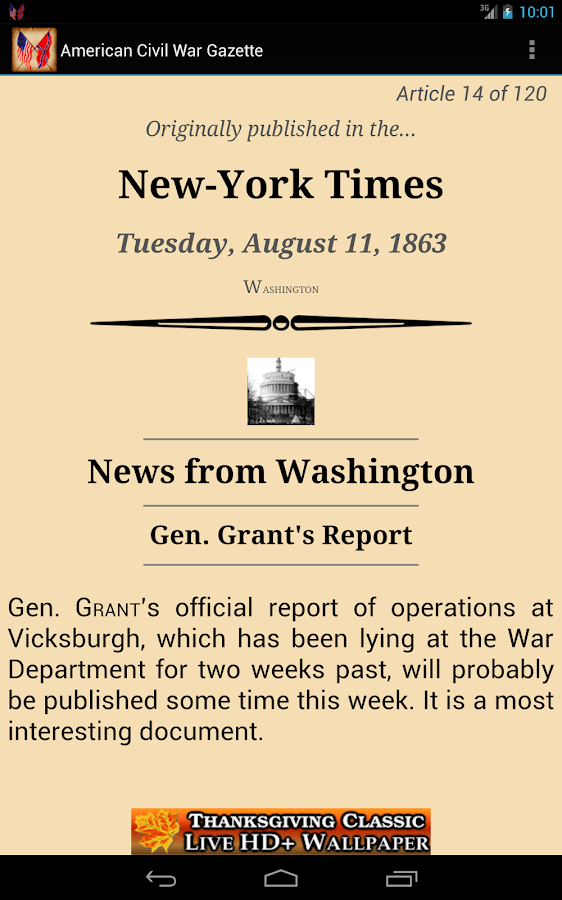 1863 Aug Am Civil War Gazette- screenshot