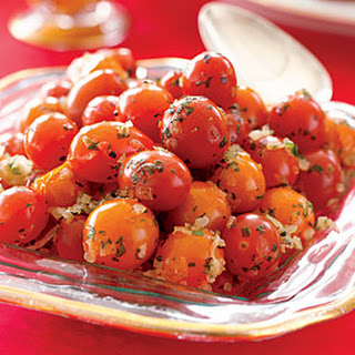 Cherry Tomatoes with Parsley.