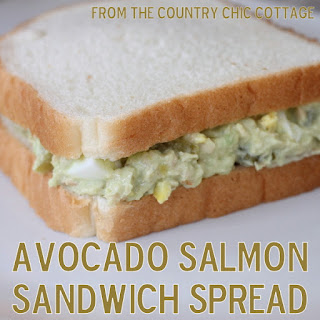 Avocado Salmon Sandwich Spread Recipe {A Low Fat Alternative}.