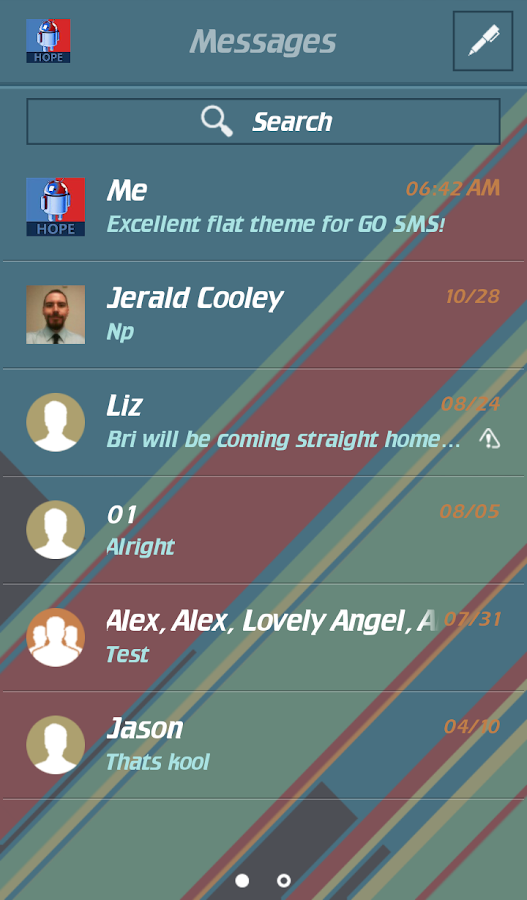FLAT MATERIAL THEME FOR GO SMS- screenshot