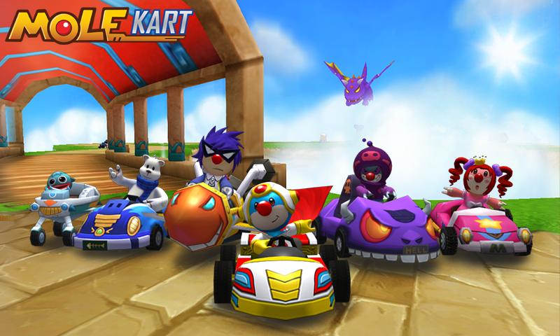 Mole Kart - screenshot