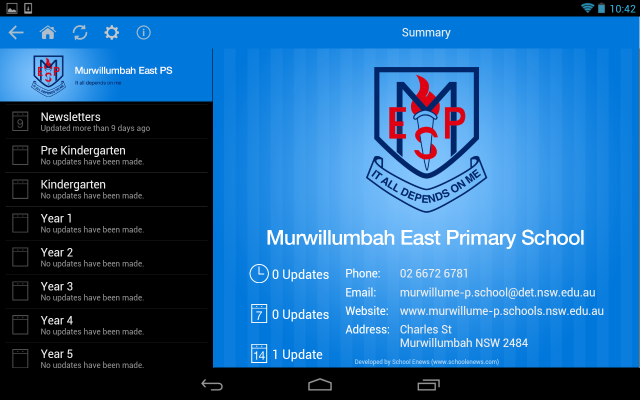 Murwillumbah East Primary - screenshot