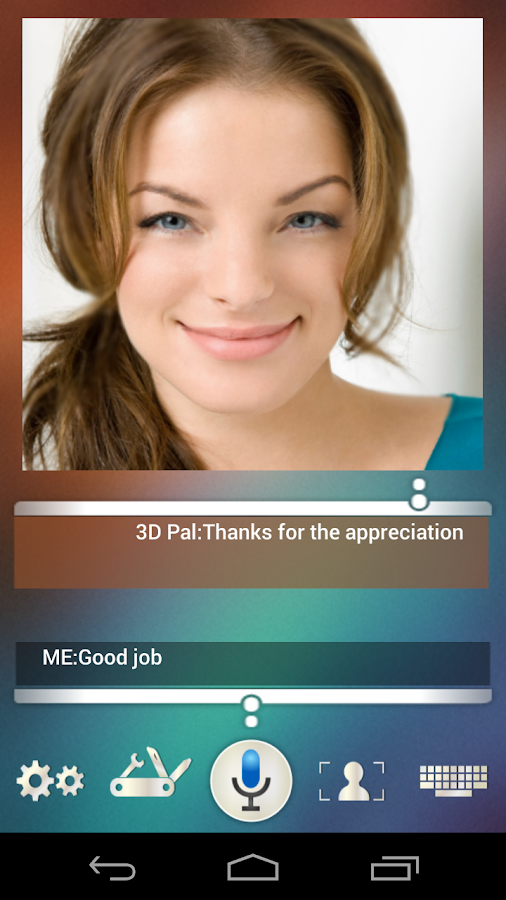 3D Pal ( 3D Siri )- screenshot