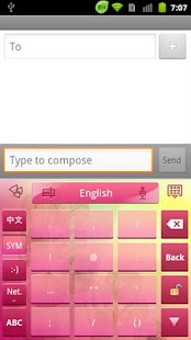 GO Keyboard Spring theme - screenshot thumbnail