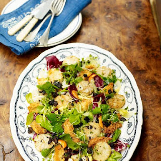 Scottish Scallops & Black Pudding With Winter Salad