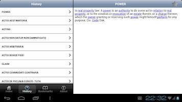 Screenshot of Law Dictionary