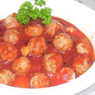 Slow Cooker BBQ Meatballs and Polish Sausage.