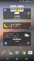 Screenshot of the Weather+
