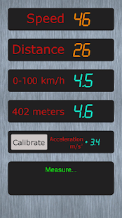 Measurement of acceleration - screenshot thumbnail