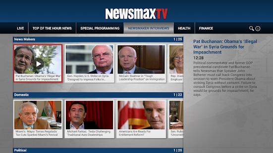 Newsmax TV - screenshot thumbnail