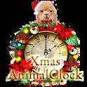 キュートなアルパカのクリスマス時計ウィジェット