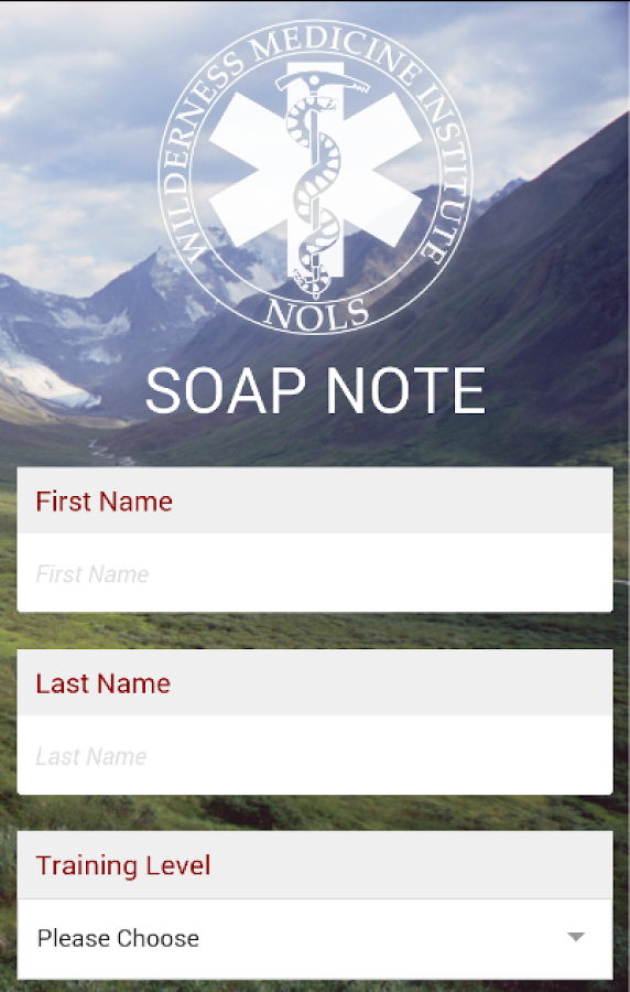 SOAP Note- screenshot