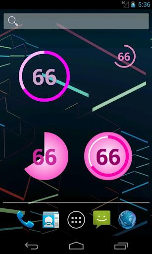 Girls Pink Battery Widget+