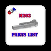 M203 Parts List