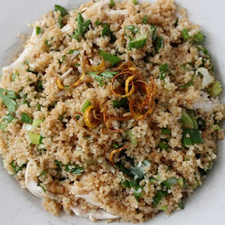 Toasted Couscous Spring Onion Salad.