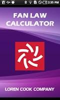 Screenshot of Loren Cook Fan Law Calculator