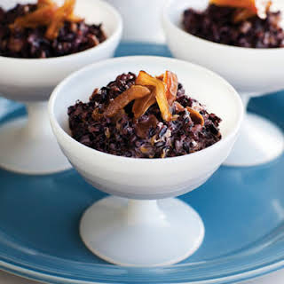 Purple Rice Pudding with Rose Water Dates.