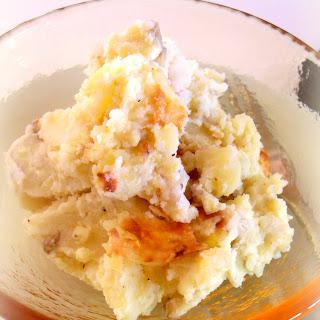 Cheddar and Garlic Smashed Potatoes