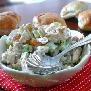 Almond, Cashew Chicken Salad on Ciabatta.