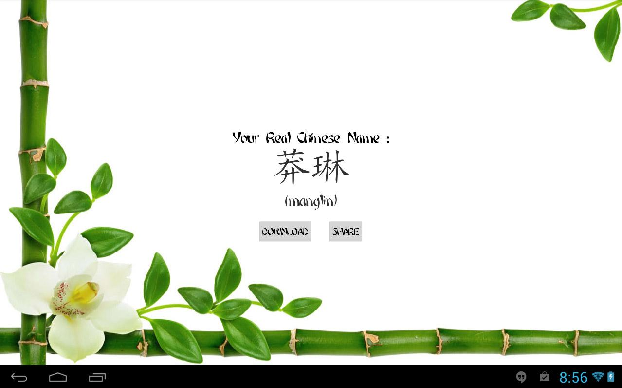 My Real Chinese Name- screenshot