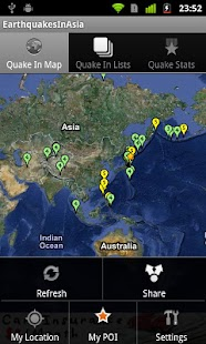 Earthquake In Asia japan