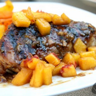 Peach & Ginger Glazed Pork Chops