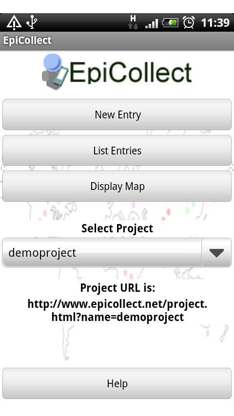 EpiCollect- screenshot