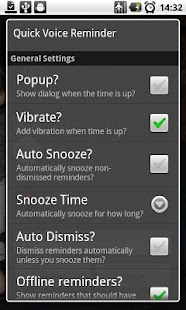 Quick Voice Reminder Lite- screenshot thumbnail