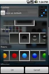 Binary clock widget