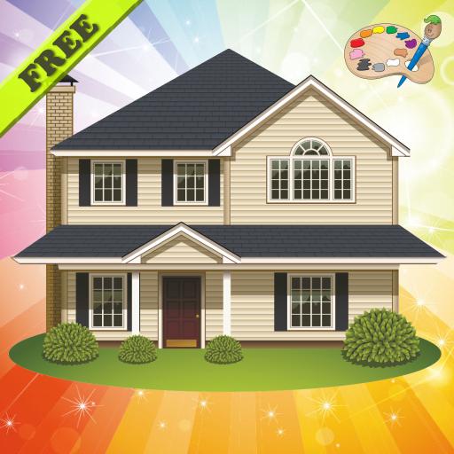 색칠 책 : 집 성 ! 教育 App LOGO-APP試玩