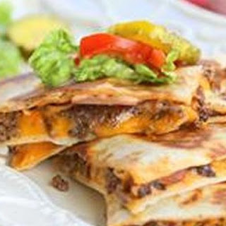 Mexi Cheeseburger Quesadillas