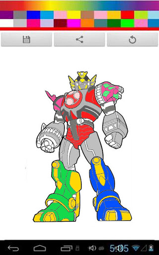 Coloring Games : Power Rangers
