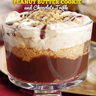 Peanut Butter Cookie & Chocolate Trifle.