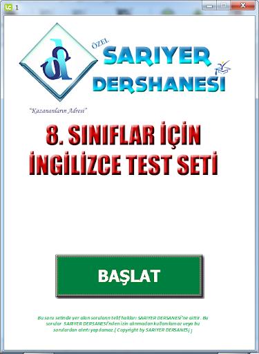 SARIYER INGİLİZCE TEST NO 2