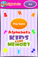 Screenshot of Alphabets - Kids Memory Game