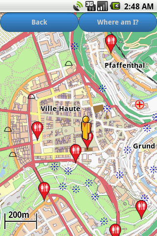 Luxembourg Amenities Map free