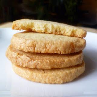 Almond Shortbread Refrigerator Cookies.