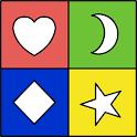 Color Shapes Flash Cards