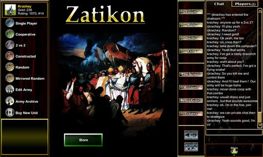 Army of Zatikon: Cards Chess