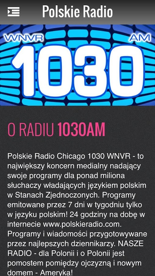 Polskie Radio 1030AM & 1300AM- screenshot