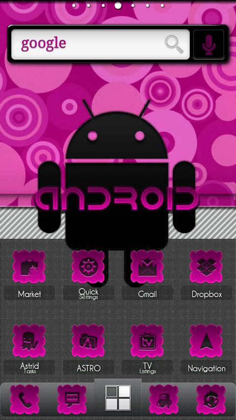 ADW Theme | PinkyBubbles- screenshot