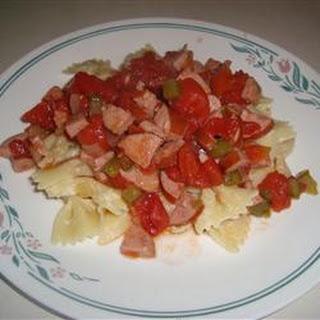 Kielbasa with Pasta.