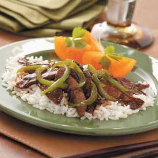 Gingered Pepper Steak