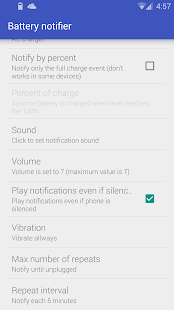 Battery notifier - Reborn- screenshot thumbnail