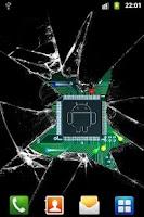 Screenshot of Broken glass lite wallpaper