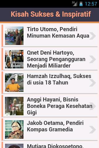 Kisah Sukses & Inspiratif- screenshot