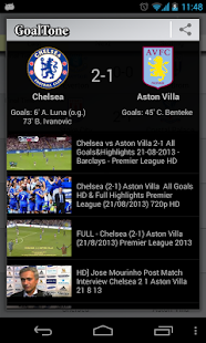 GoalTone: Live Soccer Results - screenshot thumbnail