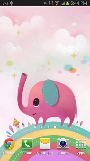 Pink Elephant - Live Wallpaper