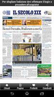 Screenshot of Il Secolo XIX Edicola Digitale